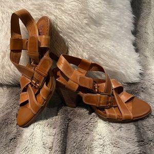 Like New Indigo by Clark's Leather Sandals Size 9